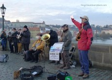Bridge Band on Charles Bridge Prague | The Girl Next Door is Black