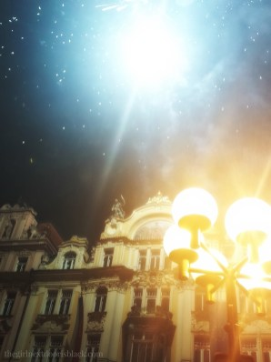 Fireworks in Old Town Square Prague | The Girl Next Door is Black