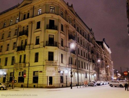 Warsaw after snow | The Girl Next Door is Black