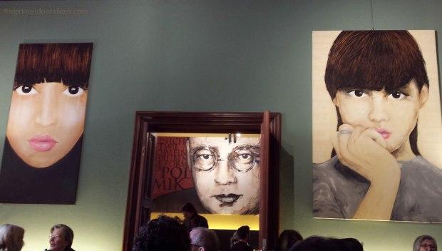 paintings in Cafe im Literaturhaus