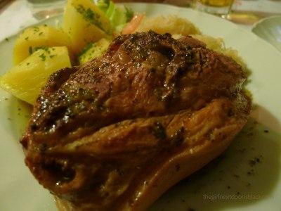 Pork knuckle dinner Berlin