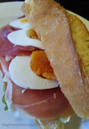 Serrano ham sandwich Cafe Literaturhaus