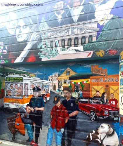 Good and Bad Side of Policing in the Mission - Mural - San Francisco, CA