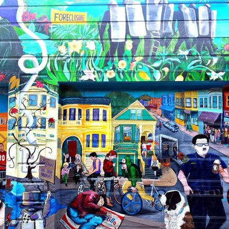 Good and Bad Side of Policing, Mural in the Mission, San Francisco, CA