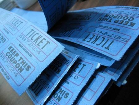 Raffle Tickets Photo cr: Alyson Hurt, flickr.com | The Girl Next Door is Black