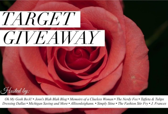 Target Giveaway March 2015 Banner from The Girl Next Door is Black