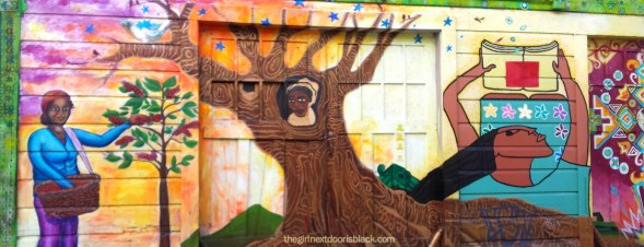 Tree Mural in Mission, San Francisco, CA