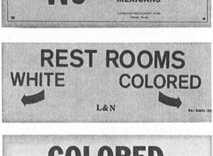 Colored White Mexicans Jim Crow Sign | The Girl Next Door is Black