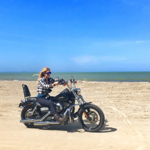 The girl on a bike dominican republic dominican riders harley davidson beach 4