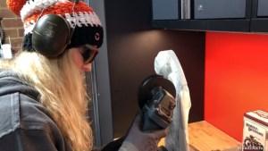 Harley-Davidson Sportster cam case customisation use angle grinder to cut cam case