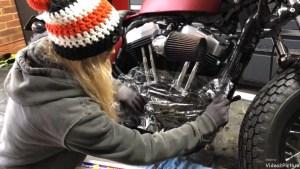 Harley-Davidson Sportster cam case customisation prevent dirt getting into gear box