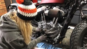 Harley-Davidson Sportster cam case customisation prevent dirt getting into gear box