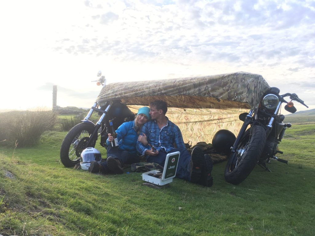 Motorcycle camping with Harleys