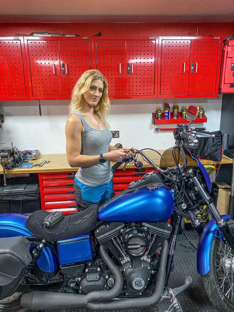 the girl on a bike vanessa ruck teng tools ctek charger ct5 power sport battery