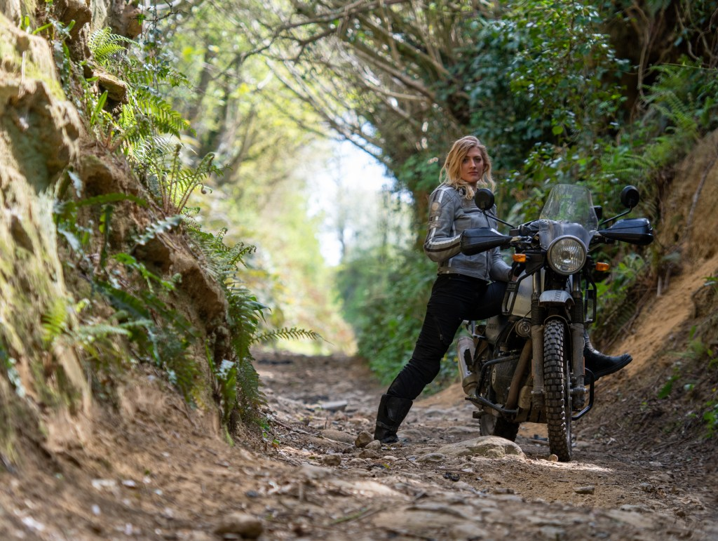 The girl on a bike superior motorcycle experiences dorset royal enfield himalayan 123