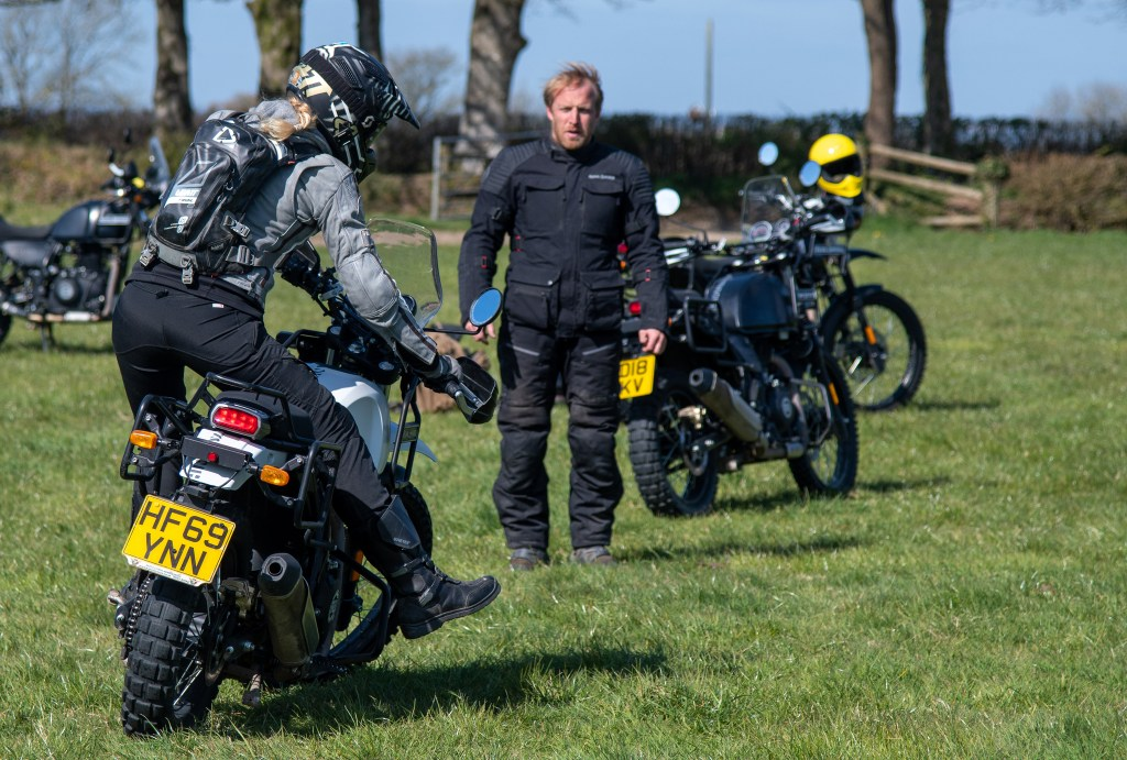 The girl on a bike superior motorcycle experiences dorset royal enfield himalayan 20