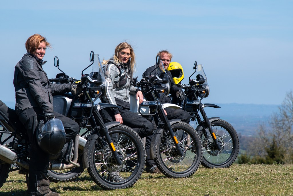 The girl on a bike superior motorcycle experiences dorset royal enfield himalayan 36