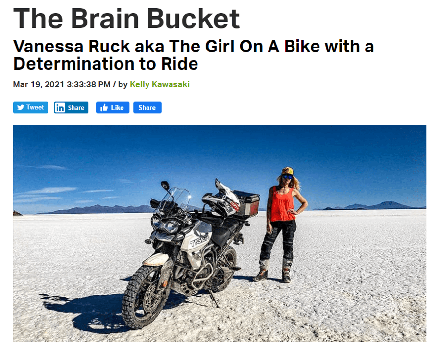 the girl on a bike vanessa ruck news media rumble on