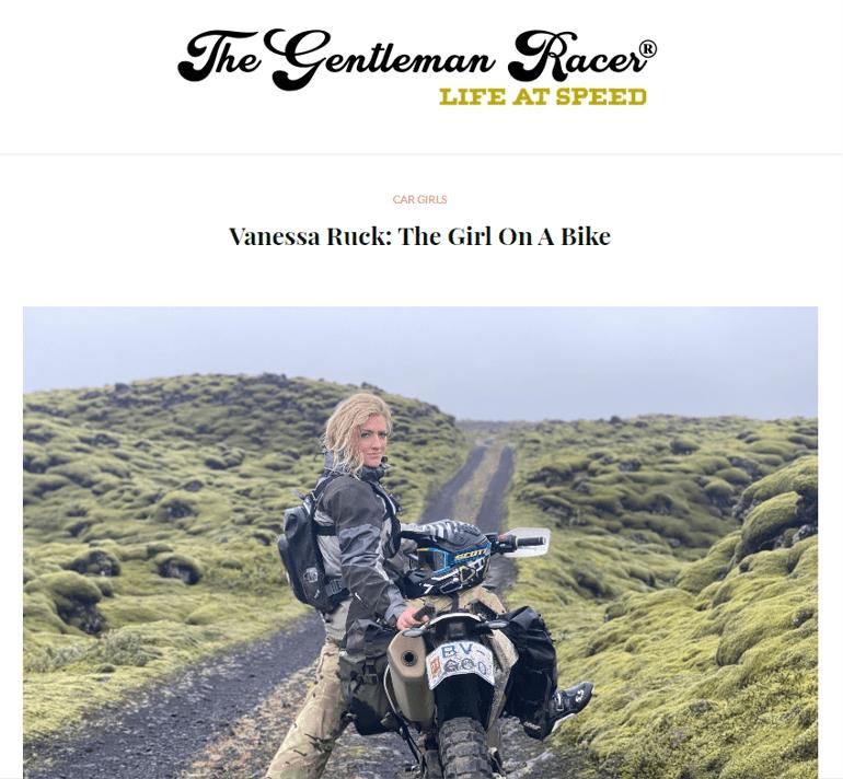 the girl on a bike vanessa ruck news media in the gentleman racer