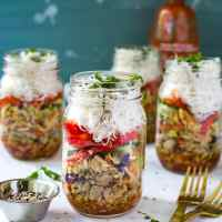 Quick & Easy Chicken Spring Roll Jars