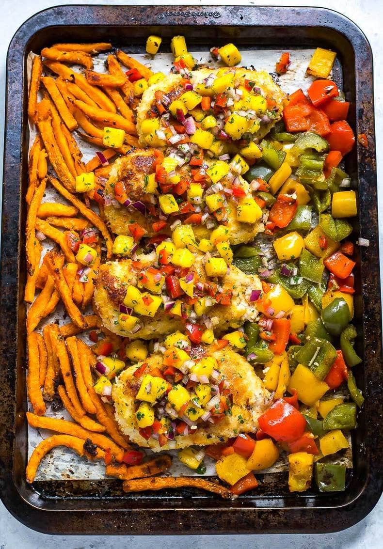 Sheet Pan Coconut Crusted Chicken
