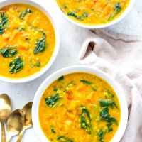 Instant Pot Golden Turmeric Lentil Soup