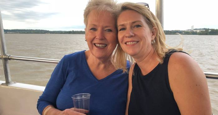Candace Moe and Chelle Gassan, The Girls of Real Estate Client Appreciation Potomac River Cruise with The Girls of Real Estate