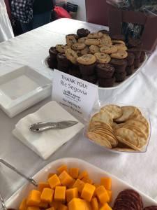 Rick Segovia of George Mason Mortgage in Woodbridge supplied the treats