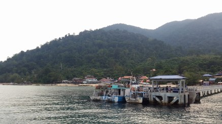 Arriving at the Tioman jetty
