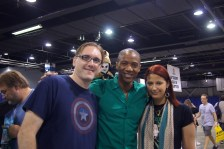 with J. August Richards and Puppet Loki