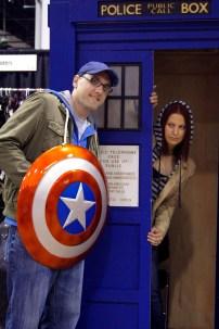 Steve and Natasha visit the TARDIS
