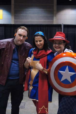Starlord, Ms. Marvel and Agent Peggy Carter
