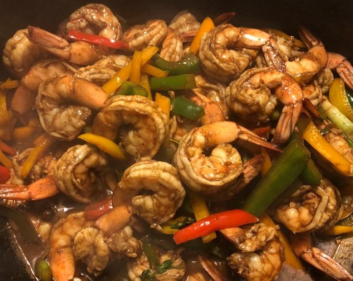 Jerk Pepper Shrimp