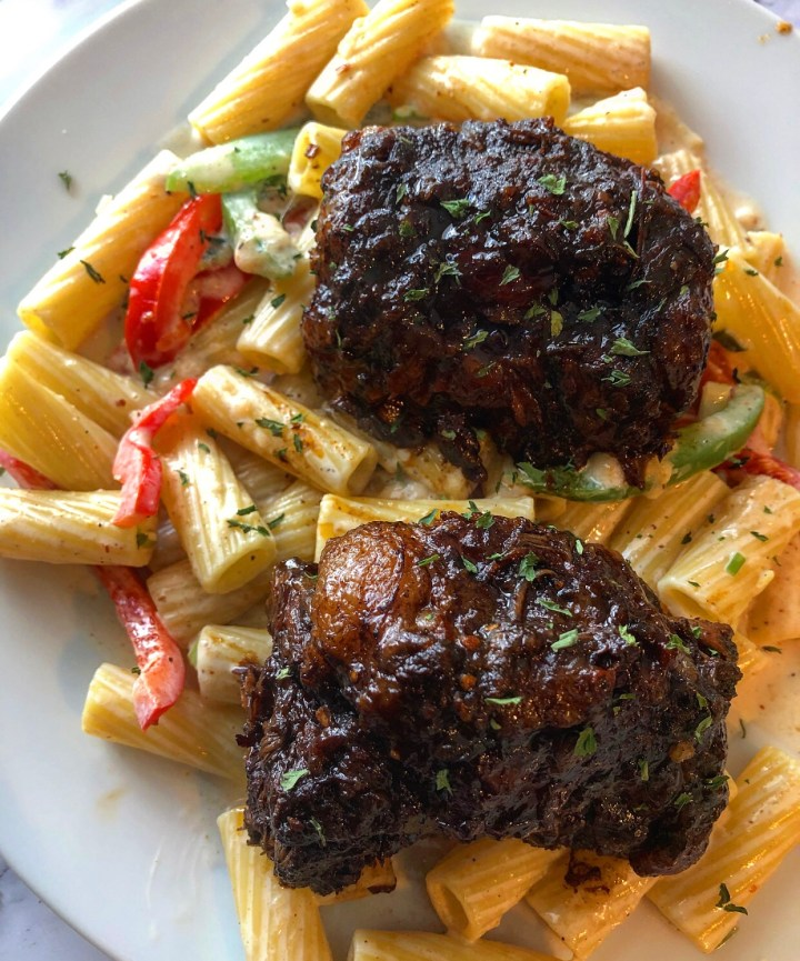 "Oxtail Rasta Pasta AKA ""Close the Deal Pasta"""