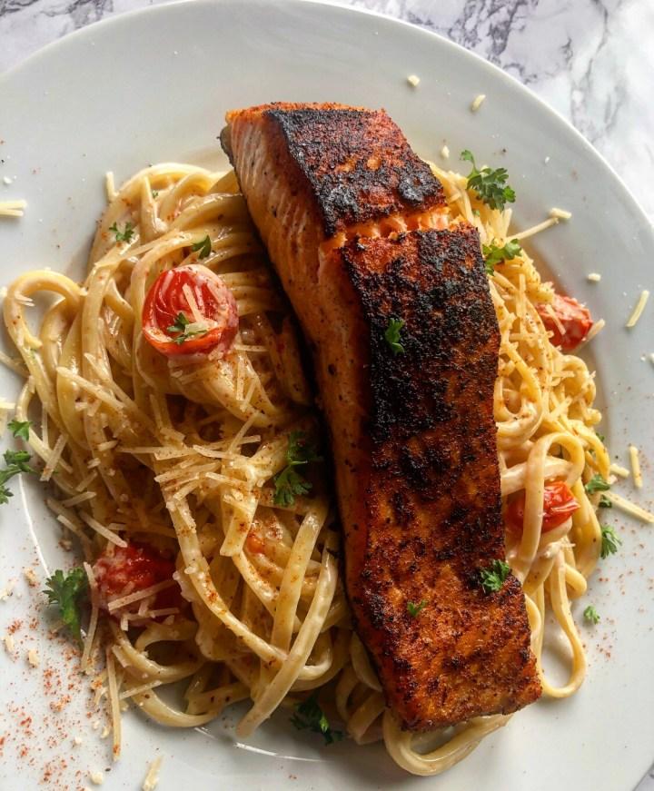 Creamy Salmon Linguine