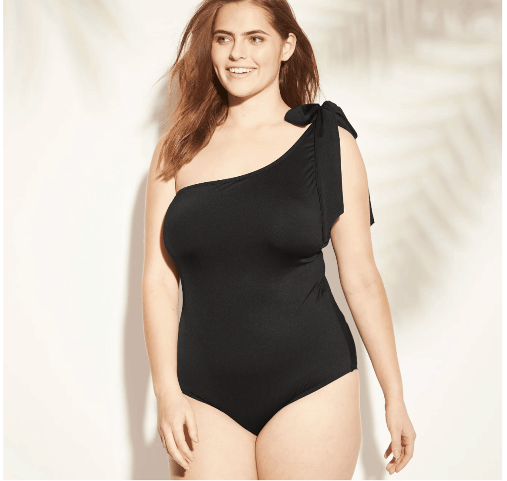 c17238b5f best swimsuits for moms. Bow Tie One Piece Shoulder Swimsuit