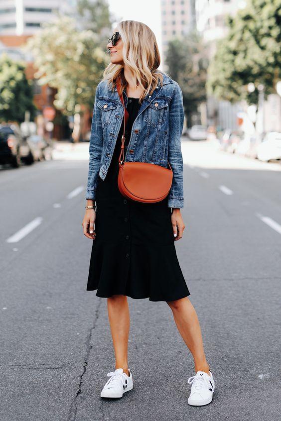 little black dress giacca di jeans sportivo