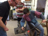 Blowing thin glass