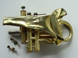 one squashed trumpet