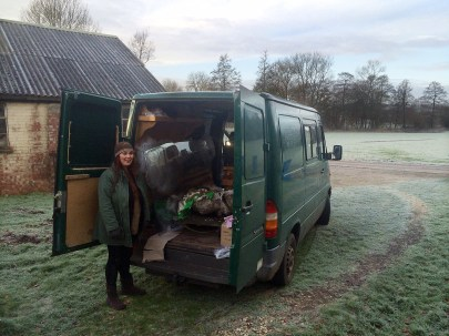 Helga and the Van all packed ready for Bristol