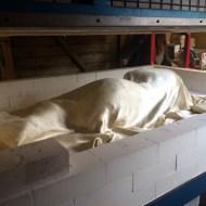 Figure entombed