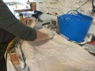 coating with plaster