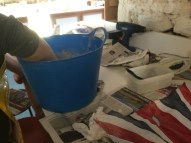prepare to plaster a flag