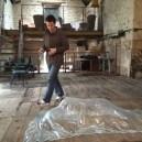 Glass figure in the barn