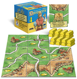 Carcassonne Mini 4: The Goldmines contents