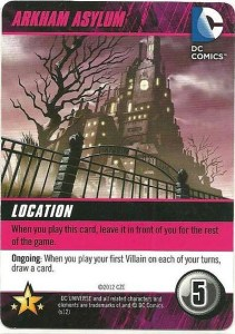 Arkham Asylum Location Card
