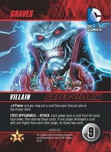 Graves Super-Villain card