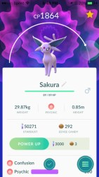 Name an Eevee Sakura to evolve an Espeon