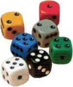 Las Vegas Boulevard - The Biggies count as two dice for scoring purposes