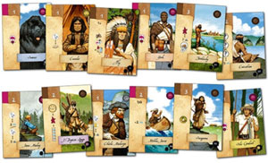 Lewis & Clark encountered character cards
